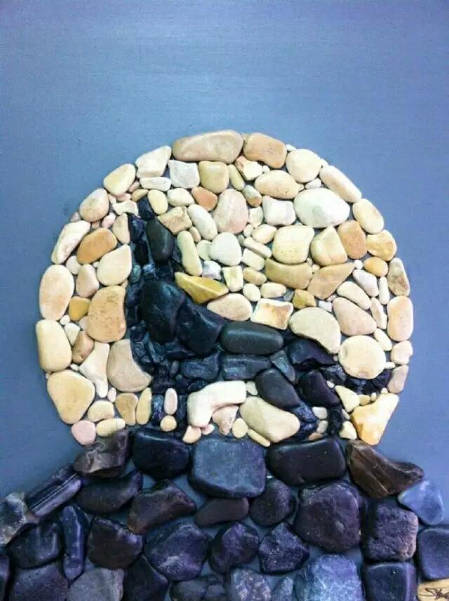 石头艺术照 太罕见了