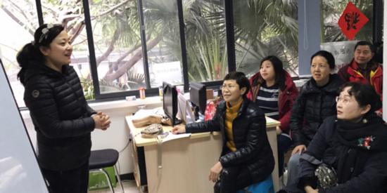 四道街精品社区教育工作站 2017年3月17日(春夏)公益课程 【热练英语班】👩👩👧👧现场直播🎬🎤