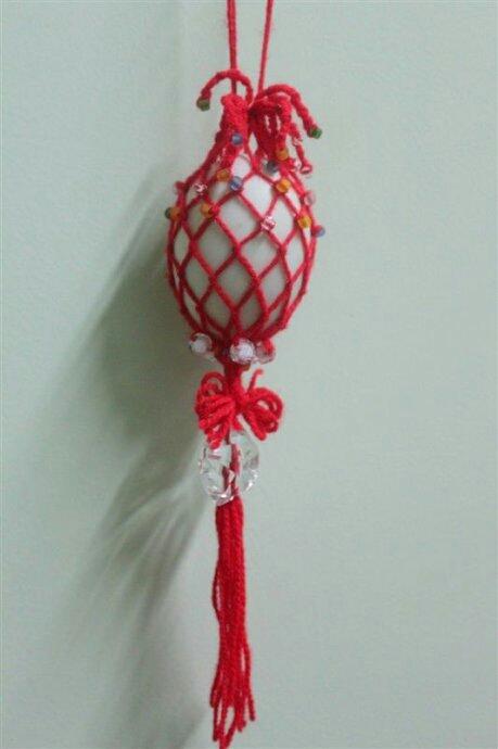 端午的锦丝彩蛋袋 母亲的锦丝彩蛋袋