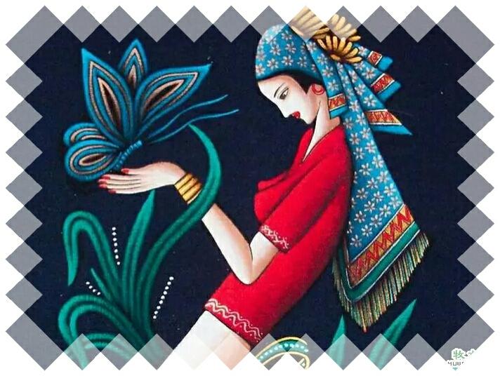 孔雀,大象,茶花,人物等等做图案纹样,别具一格.