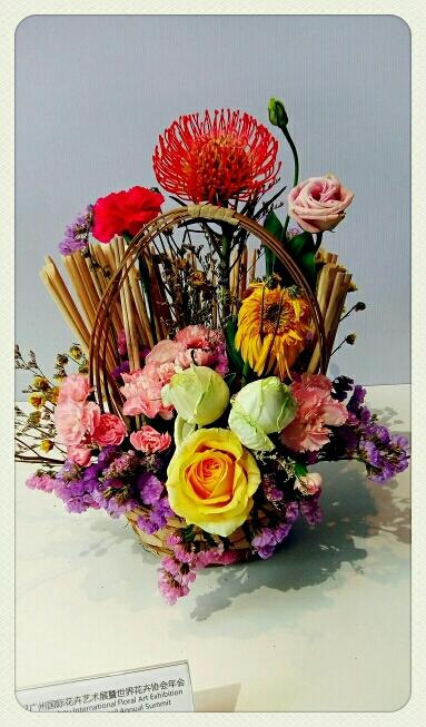 自然生命形式一中国传统插花一 2017广州国际花卉艺术展 广州第二少年宫展馆