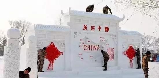 中国军人堆的雪人, 融进了军人特质,轰动全国!