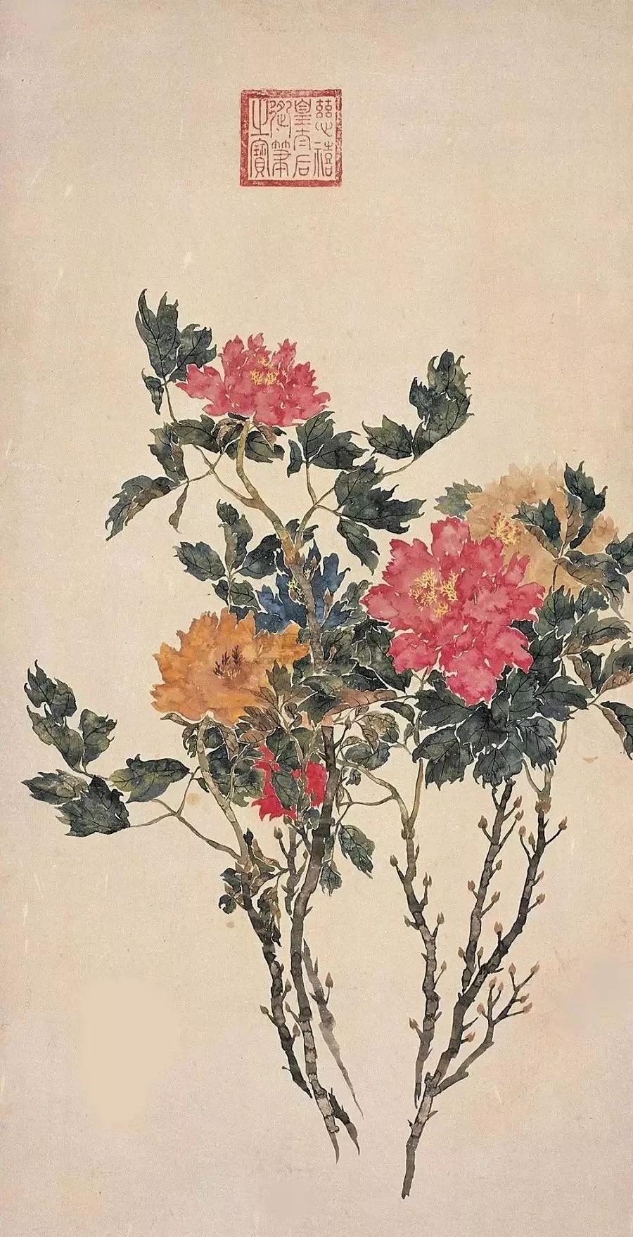 慈禧太后国画74幅丨美醉了 卢浮宫收藏了12幅