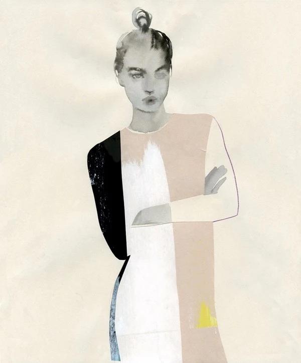 打乱重塑的时装瞬间丨  美女艺术家的 精彩时尚插画