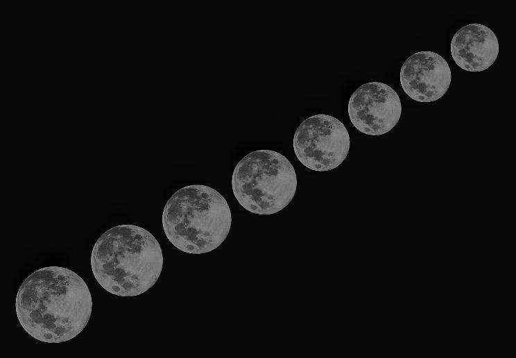 """明湖上,看到又大又圆的""""蓝月亮""""了吗"""