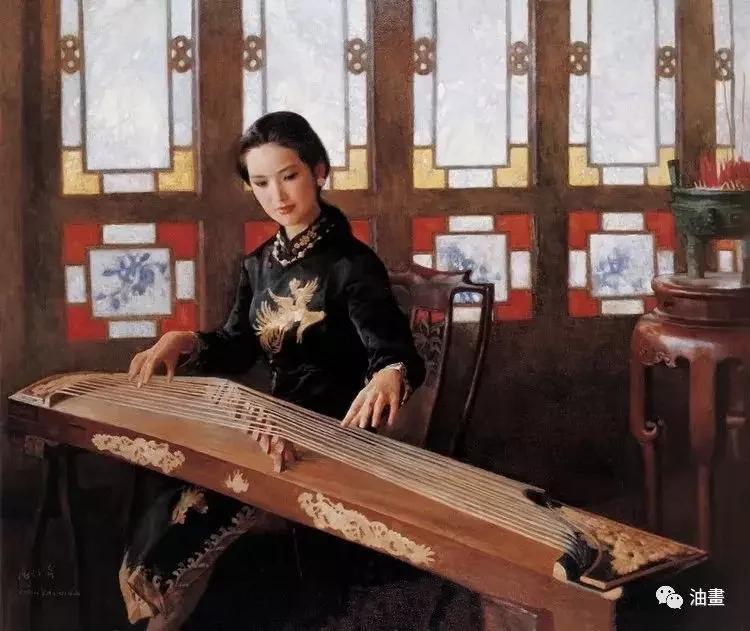 绝美油画里的中国女性,东方之美!一饱眼福!