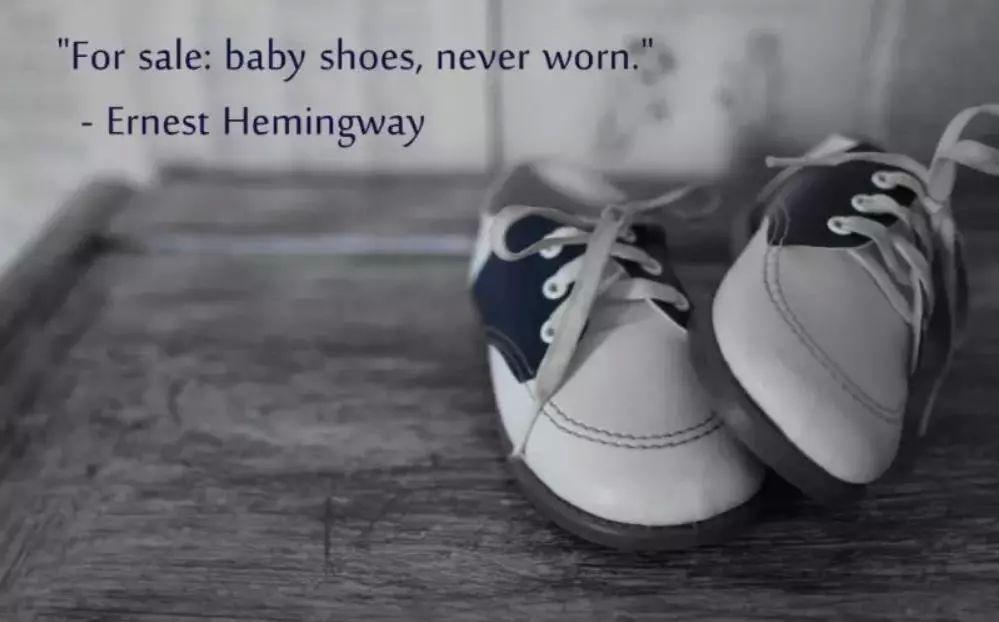 转卖:婴鞋,全新。  这些虐心的六字小说 有故事的人才读得懂  ·