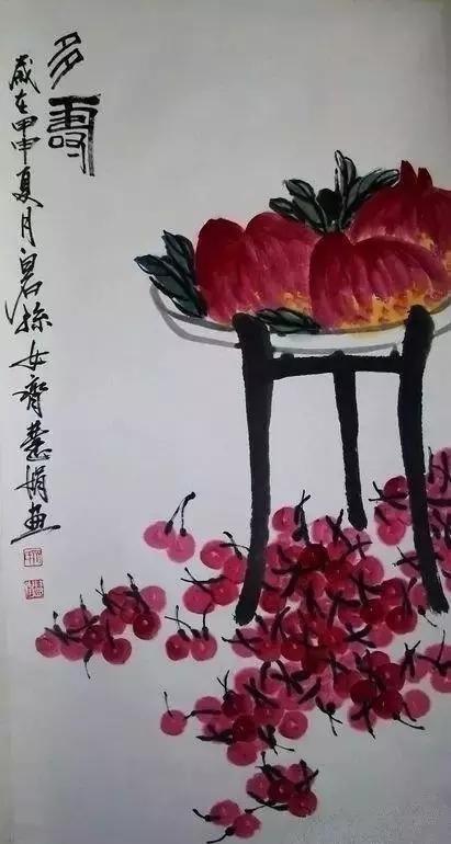 齐白石的小孙女画作