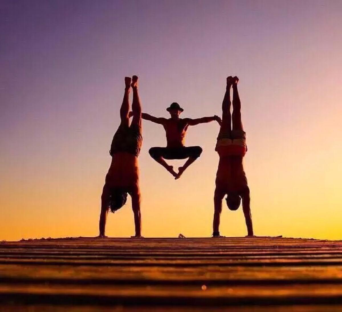 瑜伽一一人體造型 .圖片