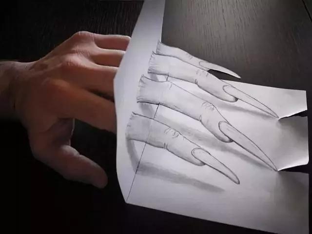 下面这些有趣的图片看起来很有立体感,但其实他们都是用铅笔在纸上图片