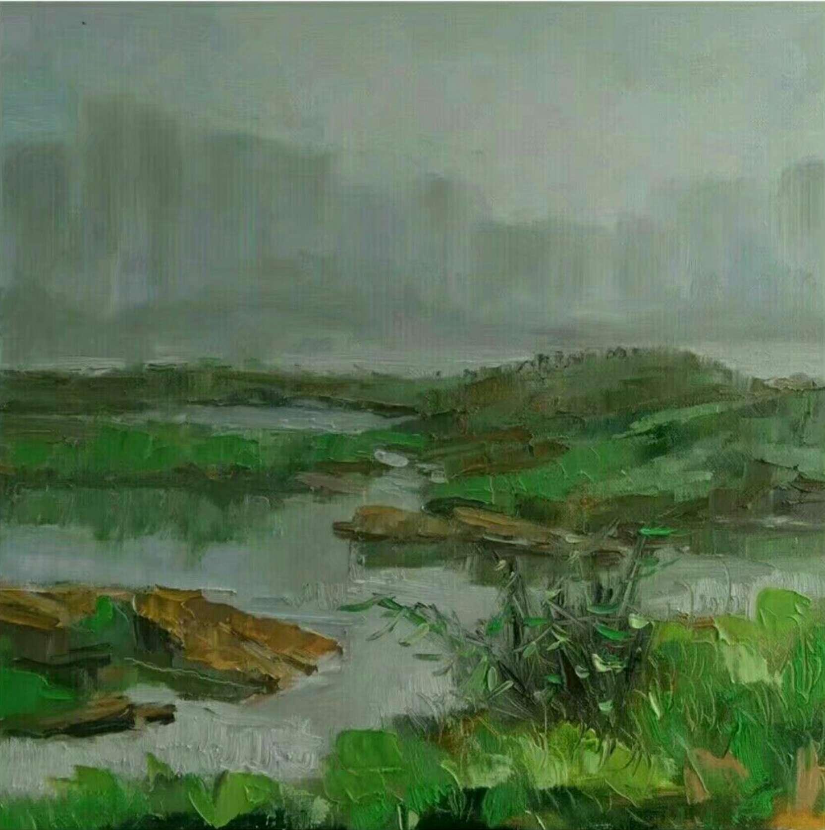 青山绿水皆有情 李一夫油画欣赏