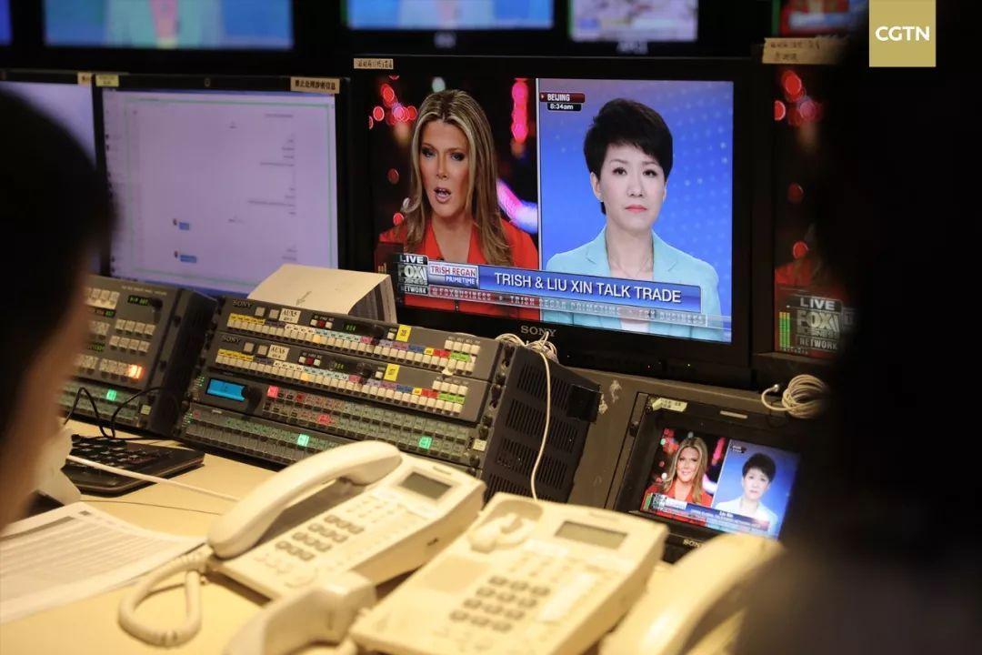 CGTN女主播刘欣与 FOX女主播翠西电视交锋