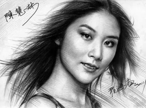 程鸿人物肖像铅笔画欣赏,太逼真了!让人惊讶!