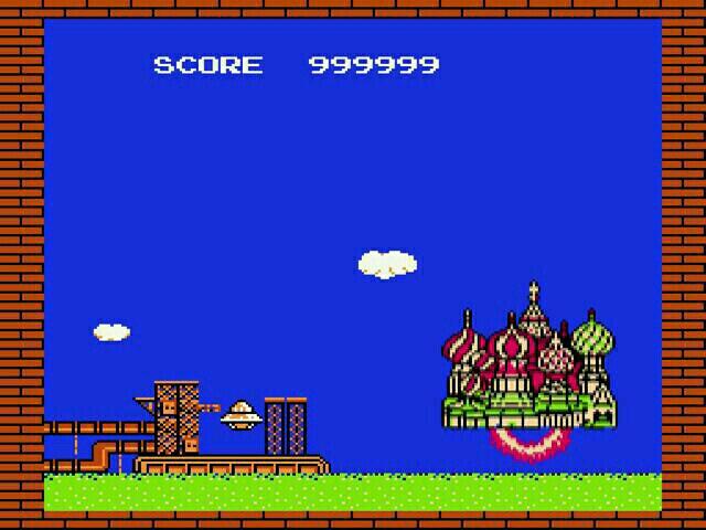 俄罗斯方块999999分通关后现真容:俄罗斯城堡升天了!